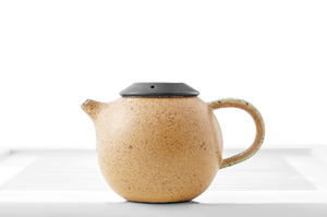 Speckled Yellow Glazed Round Teapot