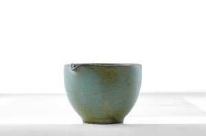 Hemisphere Tea Pitcher (Cha Hai) With Bluish-Gray Speckled Crackle Glaze