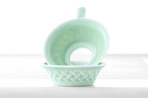 Mint Green Porcelain Set For Traditional Chinese Tea Ceremony