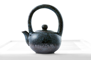 Dark Crackle Glazed Taiwanese Style Tea For One Set